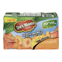 Del Monte Juice Peach-Mango Cocktail (8x200mL)  - Urbery