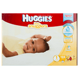 Huggies Little Snugglers, Mega Colossal Pack Size 1 Diapers