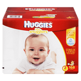 Huggies Little Snugglers, Mega Colossal Pack Size 2 Diapers (168 ea)