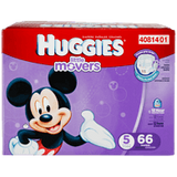 Huggies Little Movers, Super Pack Size 5 Diapers (66 ea)