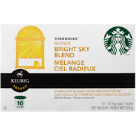 Keurig Starbucks Bright Sky Blend Blonde Roast (10ea)  - Urbery