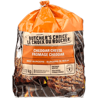 Butcher's Choice Beef Burger, Cheddar Cheese (1.13kg)  - Urbery