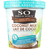 So Delicious Frozen Dessert Coconut Milk Vanilla Bean No Sugar Added (500ml)