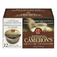 Camerons Coffee Single Serve Pods, Chocolate Caramel Brownie (12ea)  - Urbery
