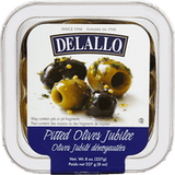 Delallo Pitted Olives Jubilee, Ready Pack (227g)