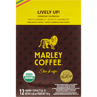 Marley Coffee Lively Up! Dark Roast Espresso (12ea)  - Urbery