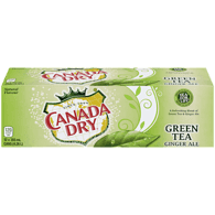 Canada Dry Green Tea Gingerale (12X355ML)  - Urbery