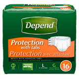 Depend Fitted Briefs, Maximum Absorbency L/XL (16 ea)