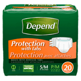 Depend Fitted Briefs, Maximum Absorbency S/M (20 ea)