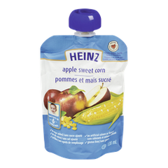 Heinz Stage 2 Baby Food Pouch Apple Sweet Corn (128mL)  - Urbery