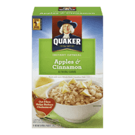 Quaker Instant Oatmeal, Apples & Cinnamon (325g)  - Urbery