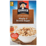 Quaker Instant Oatmeal, Maple & Brown Sugar (430g)