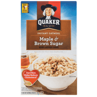 Quaker Instant Oatmeal, Maple & Brown Sugar (430g)  - Urbery