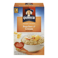 Quaker Instant Oatmeal, Peaches & Cream (325g)  - Urbery