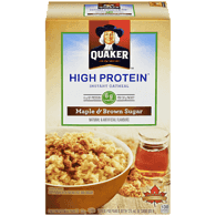 Quaker Instant Oatmeal with Protein, Maple & Brown Sugar (228g)  - Urbery