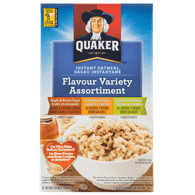 Quaker Instant Oatmeal, Flavour Variety (380g)  - Urbery