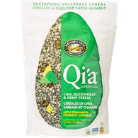 Nature's Path Qi'a Superfood Chia, Buckwheat & Hemp Cereal, Apple Cinnamon (225g)  - Urbery