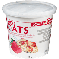 Love Grown Hot Oats, Strawberry Raspberry (63g)  - Urbery