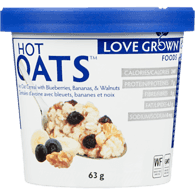 Love Grown Hot Oats, Blueberry Banana Walnut (63g)  - Urbery