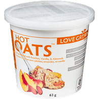 Love Grown Hot Oats, Peach Almond Vanilla (63g)  - Urbery