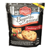Dare  Boulangerie Grissol Baguettes Artisanal, Cranberry & Fig (100g)  - Urbery