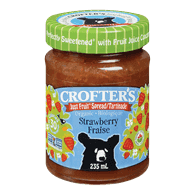 Crofters Organic Just Fruit Spread, Strawberry(235mL)  - Urbery