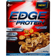 General Mills Edge With Protein, Maple Nut Cluster (465g)  - Urbery