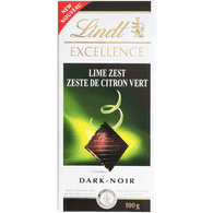 Lindt Excellence Dark, Lime Zest (100g)  - Urbery