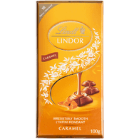Lindt Lindor Milk Chocolate Caramel Bar (100g)  - Urbery