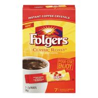 Folgers Instant Coffee Sticks, Classic Roast (14g)  - Urbery