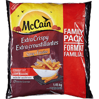 McCain Exra Crispy Straight Cut Spicy Fries, Family Pack (1.45kg)  - Urbery