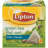 Lipton Mint Green Tea, Pyramid Bags (20ea)  - Urbery
