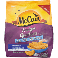 McCain Crinkle Wedges, Sea Salt (650g)  - Urbery