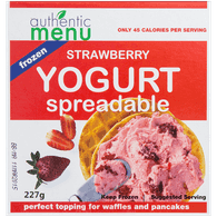 Authentic Menu Frozen Breakfast Spreadable Frozen Yogurt, Strawberry (227g)  - Urbery