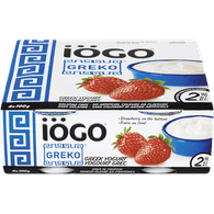 IOGO Greko Yogurt, Strawberry 2% (4x100g)  - Urbery