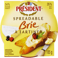 President Spreadable Brie (185g)