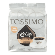 Tassimo McCafe Single Serve Pods, Premium Roast (14ea)  - Urbery