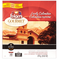 Keurig Folgers Gourmet Selections Lively Colombian (30ea)  - Urbery