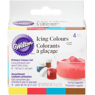 Wilton Icing Colours, Primary Colours Set (4ea)  - Urbery