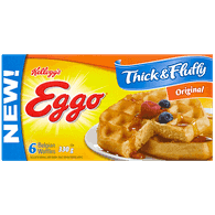 Kellogg's Eggo Waffles Thick and Fluffy, Original (330g)  - Urbery