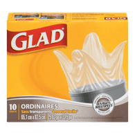 Glad Easy Tie Clear Bags (10ea)  - Urbery