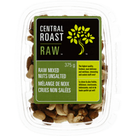Central Roast Mixed Nuts, Raw Unsalted (375g)  - Urbery