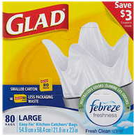 Glad Kitchen Catchers, Large (80ea)  - Urbery
