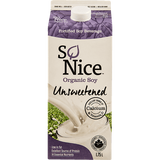 So Nice Organic Soy Beverage Unsweetened (1.75L)