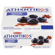 Astro Athentikos Greek Yogurt, Blueberry Maple (4x100g)  - Urbery