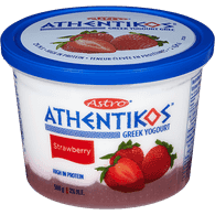 Astro Athentikos Greek Yogurt, Strawberry (500g)  - Urbery