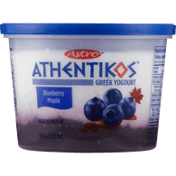 Astro Athentikos Greek Yogurt, Blueberry Maple (500g)  - Urbery