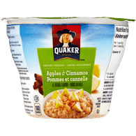 Quaker Oatmeal Cup, Apples & Cinnamon (43g)  - Urbery