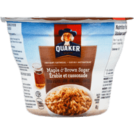 Quaker Instant Oatmeal Cup, Maple & Brown Sugar (48g)  - Urbery