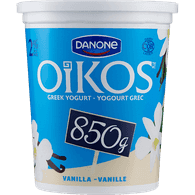 Danone Oikos Greek Yogurt, Vanilla 2% (850g)  - Urbery